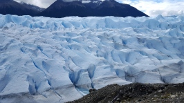 "View from the side of the ""Perito Moreno"" glacier"