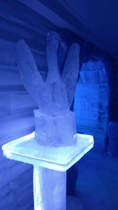 "Ice sculpture at the ""Ice bar"""